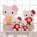 2016 New Hello Kitty Toy Doll 35cm 45cm Hello Kitty plush Doll Wholesale Wedding Presses Doll Filled Child Birthday Gift x264