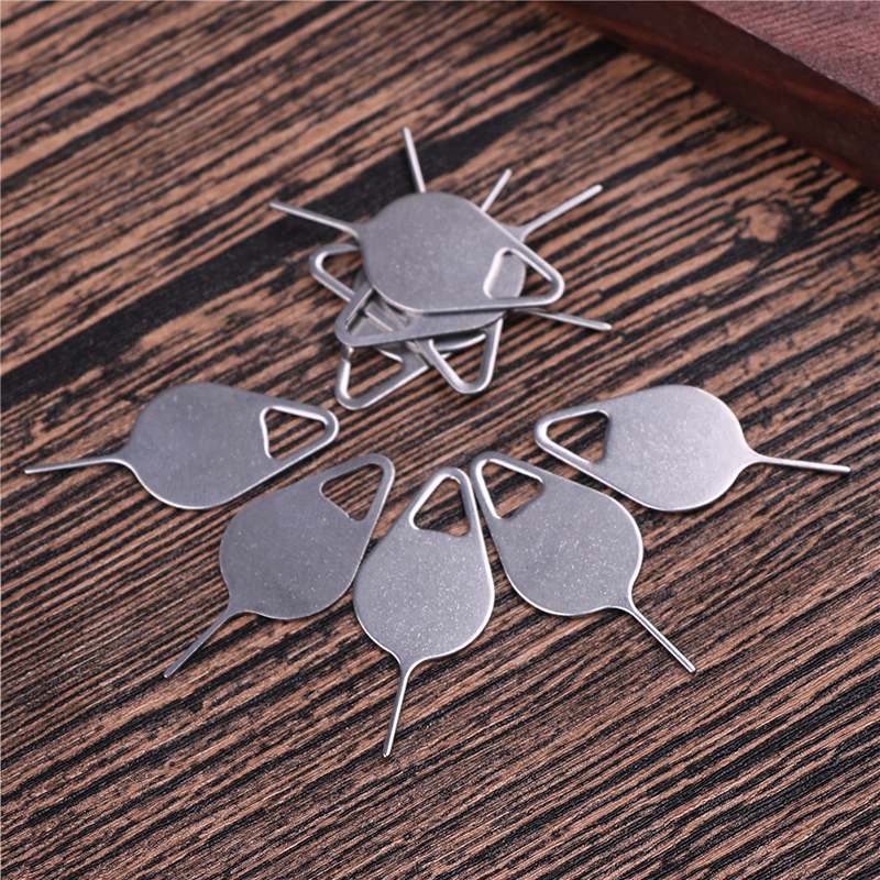 10pcs Metal SIM Card Tray Removal Eject Pin Key Tool Needle For IPhone 7 Plus 8 X IPad Samsung S7 S8 Xiaomi