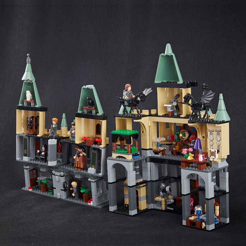 Lepin 16029 1033pcs Lepin Harry Creator HOGWARTS CASTLE Building Blocks Model Bricks Toys Compatible With Lepin 5378 china brand 16029 educational bricks toys diy building blocks compatible with lego hogwarts castle 5378