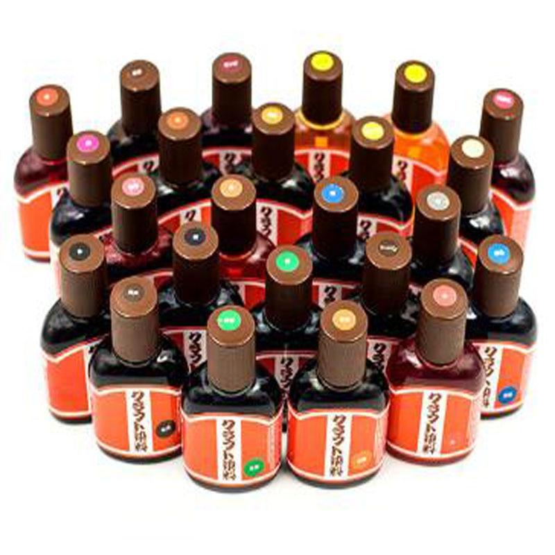 24 Colors Chosing Diy Handmade Japanese Craft Salt-based Leather Dyes 100ml Vegetable Tanned Leather Dye