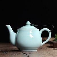 Tea Beauty New Hot Sale Longquan Celadon 620ml Zisha Ceramics Arts Handmade Teapot Porcelain Yixing Clay