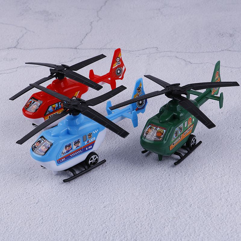 2PC Pull Back Helicopter Toys Plane Model Kids Playing Games Toys Small Rotating Propeller Airplane Ornaments Birthday Gifts image