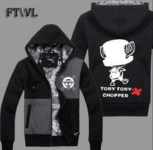 One Piece Costume Men Sweatshirts Tony Tony Chopper Cosplay Jacket Anime Tracksuit