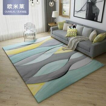 Домашний коврик из текстиль, скандинавские геометрические минималистичные Абстрактные Художественные фланелевые ковры для гостиной, дива