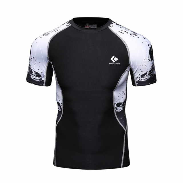 a946328a New Products Sublimated Printing Rash Guard Short Sleeves Compression Skin  Tight Shirts Mens MMA Crossfit T-Shirts for Men
