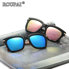 ROUPAI Brand Classic Big Frame Women / Men Retro Polarized Sunglasses 2017 Hot Sale Female Oversized Sun Glasses Shadow Glasses