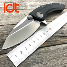 Ldt whale shark folding knife d2 blade titanium g10 uchwyt doc flipper tactical polowanie camping survival noże nóż edc narzędzia