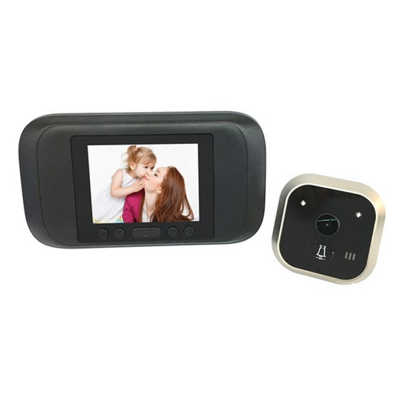 BLACK 3.2'' Peephole Viewer camera 720P PIR Auto Door Camera Monitor Photo Video Recorder TFT Home Anti Flicker video Doorbell 683029 501 683029 001 main board fit for hp pavilion g4 g6 g7 g4 2000 g6 2000 laptop motherboard socket fs1 ddr3