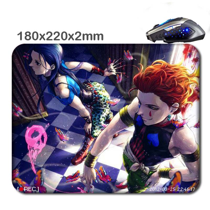 hunter x hunter hisoka and illumi Print Wholesale Large Mouse Pad Non-Skid Rubber Gaming Mouse Pad for office gift 220*180*2MM