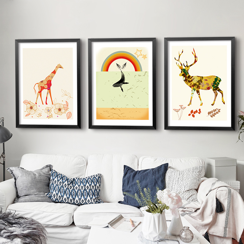 New nordic elk canvas oil painting poster modern cuadros decoracion wall art wall pictures for - Poster decoracion ...