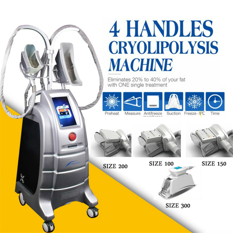 Popular Effective 4 Handles Fat Reduction Cryotherapy Slimming Cool Body Sculpting Fat Freezing Machine For Salon Use