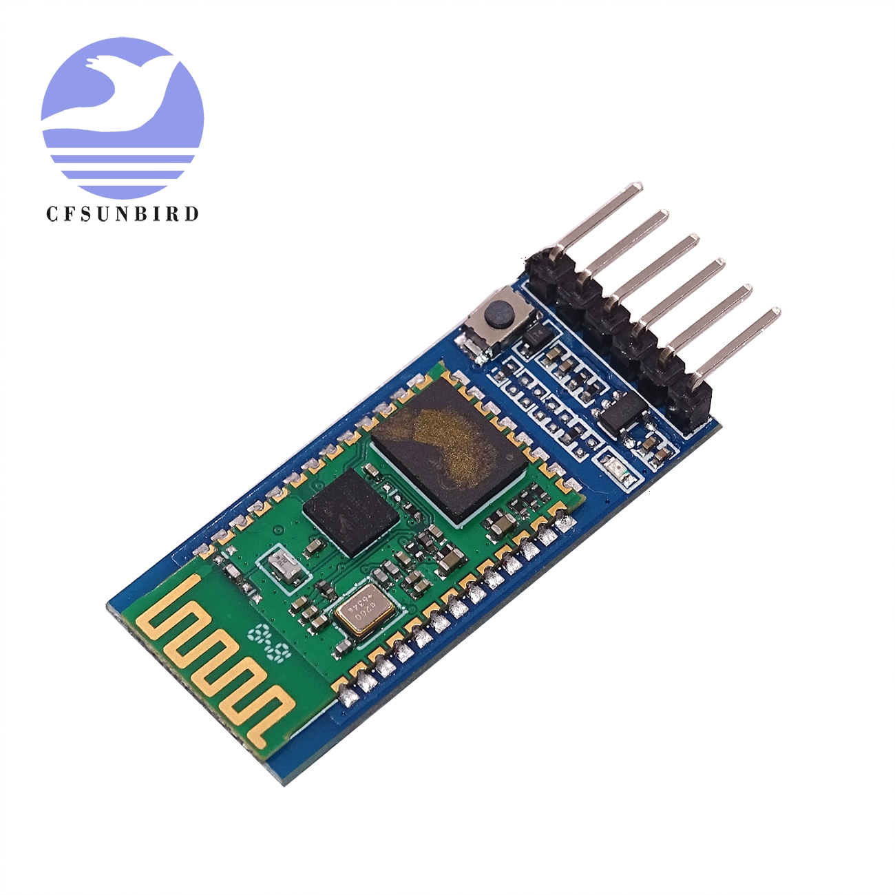 Image 3 - free shipping 20pcs/lot HC05 HC 06 JY MCU anti reverse, integrated Bluetooth serial pass through module, HC 05 master slave 6pin-in Integrated Circuits from Electronic Components & Supplies
