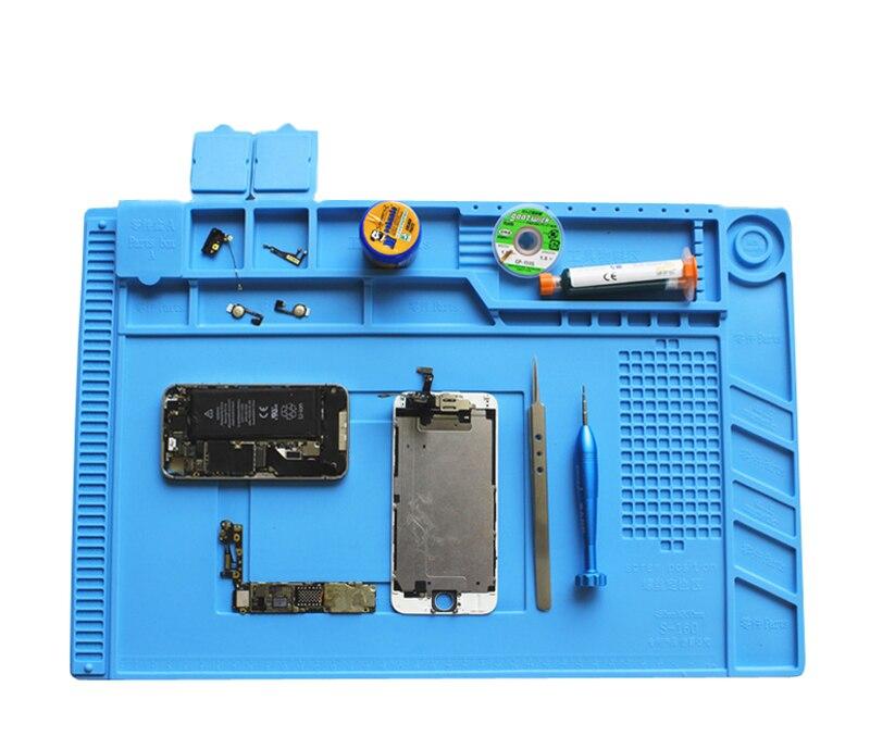 Image 2 - Heat resistant Soldering Mat Silicone Heat Gun BGA Soldering Station Insulation Pad Repair Tools Maintenance Platform Desk Mat-in Tool Parts from Tools