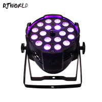 4pcs/lot LED 18x18W RGBWA+UV Zoom Aluminum House Par Lights DJ Stage Effect Disco For Bar Night Concert Productions Lighting