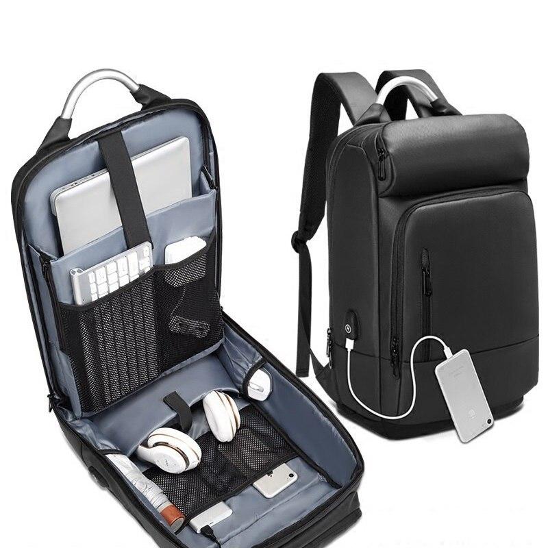 Back Pack Men Usb Port Multifunction Backpacks Shockproof Laptop Backpack Waterproof Travel Backpack College Bag Mochila Antirro