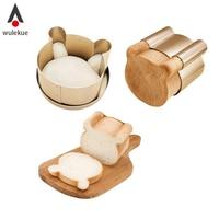 Wulekue 3Pcs Set Carbon Steel Bear Shape Cake Mould For Cookies DIY Sandwich Bakeware Baking Tools