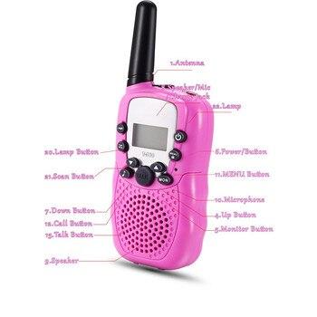 1PairX Child Kids Walkie Talkie Parenting Game Mobile Phone Telephone Talking Toy 5-8KM Range for kids 1