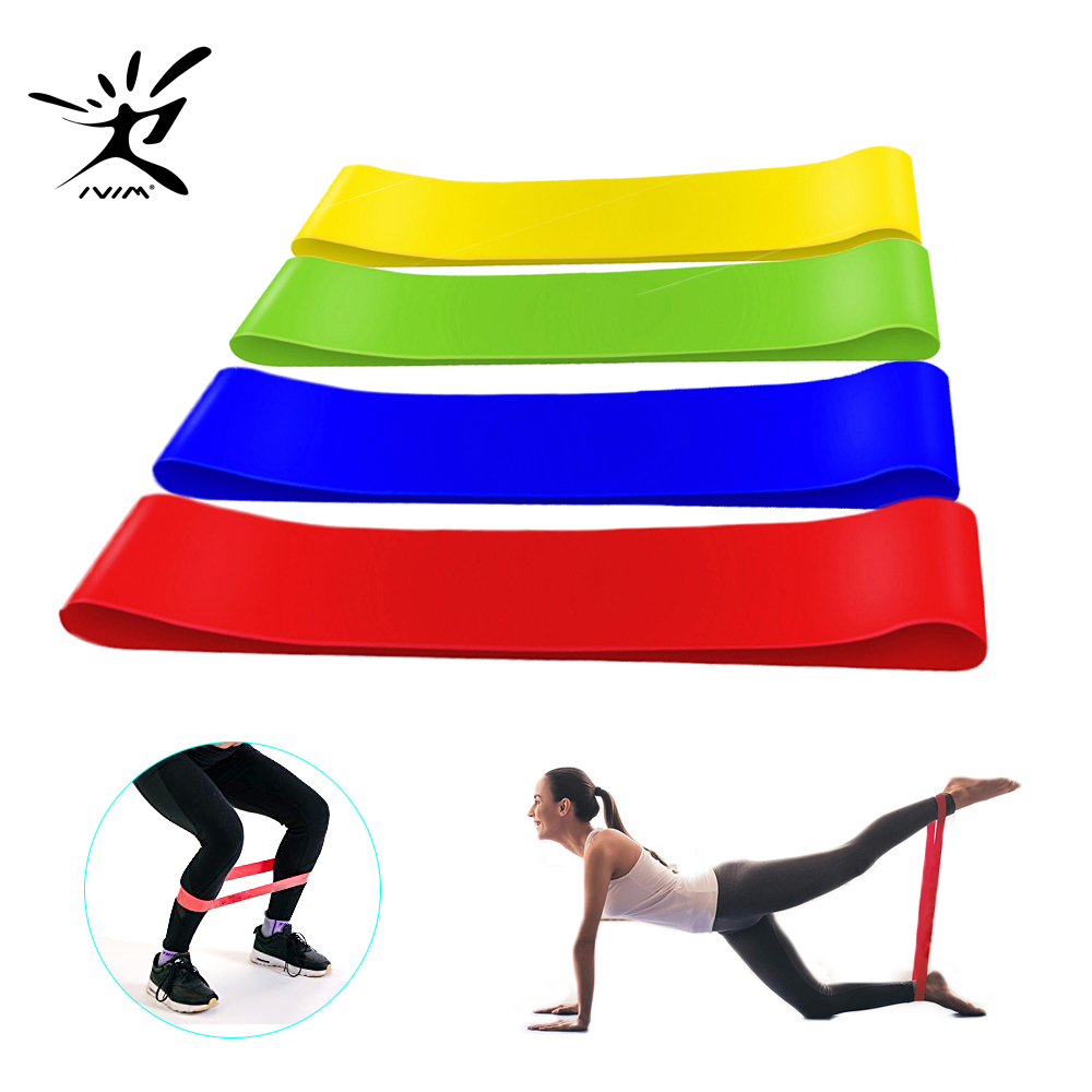 4PC/Set  Yoga Resistance Bands Elastic Fitness Bands Gum Home Training Gym Exercise Equipment Expander Rubber Bands Workout 4