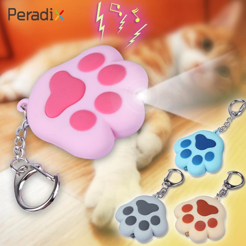 Брелок для ключей Ребенок подарочная сумочка фонарик мяу Kawaii звук Пластик Освещение кошка лапой
