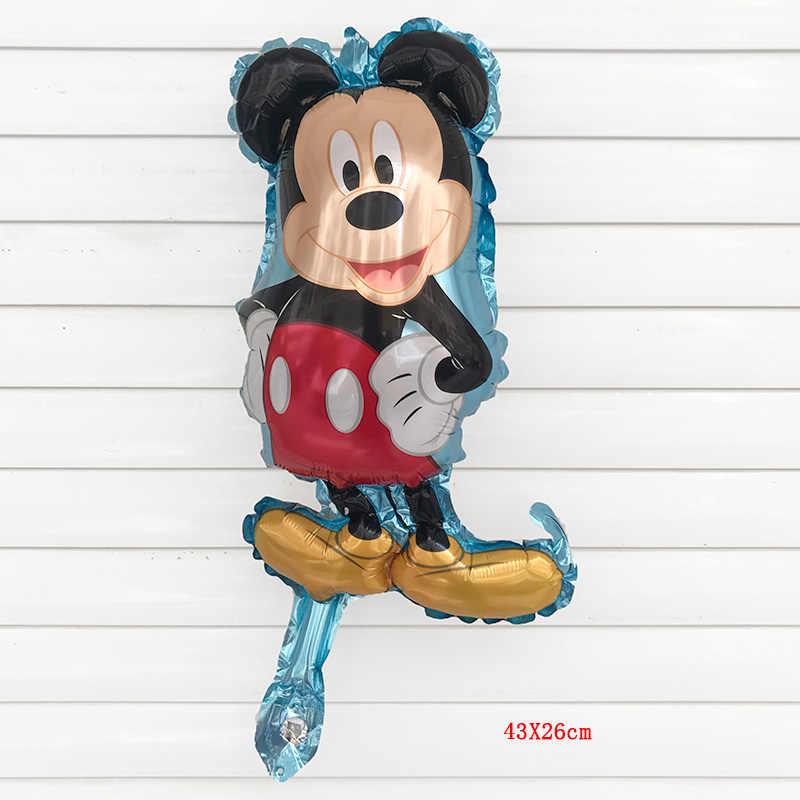 จัดส่งฟรี 1 ชิ้น 43X26 เซนติเมตร Mini Minnie Mickey Mouse อลูมิเนียมบอลลูนเด็กวันเกิด Party Decor ของเล่นของเล่น air บอลลูน Globos