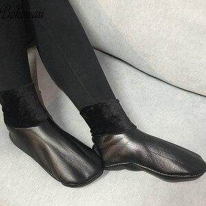 Image 1 - BOHOWAII kalın deri çorap Unisex erkekler kadınlar Harajuku müslüman kış çorap su geçirmez boyutu 34 43 Skarpetki