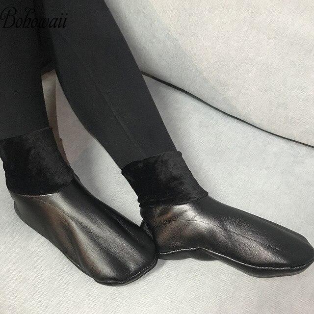 BOHOWAII kalın deri çorap Unisex erkekler kadınlar Harajuku müslüman kış çorap su geçirmez boyutu 34 43 Skarpetki