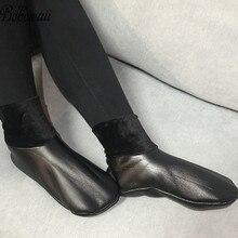 Толстые кожаные носки BOHOWAII унисекс, мужские и женские мусульманские зимние носки в стиле Харадзюку, водонепроницаемые носки размеров 34 43