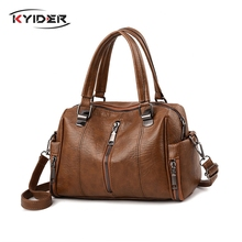 KYIDER Luxury Women Bag Designer Leather Handbag Fashion Pillow Shoulder Bags Crossbody Female Tote Hand Brand Bolsos