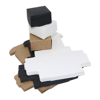 10pcslot White Kraft Paper Packing Box,Black Small Soap Box DIY Jewelry Packaging Boxes Brown Natural Kraft Box for Candy, caixas de papel kraft