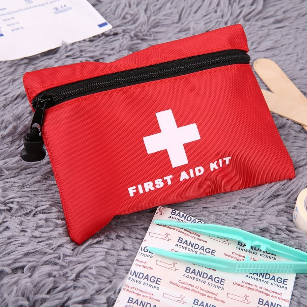 New Emergency Survival Kit Mini Family First Aid Kit Sport Travel kit Home Medical Bag Outdoor Car First Aid Kit 19pcs high quality outdoor travel first aid kit car first aid bag home small medical box emergency survival kit size 21 13 5 5cm