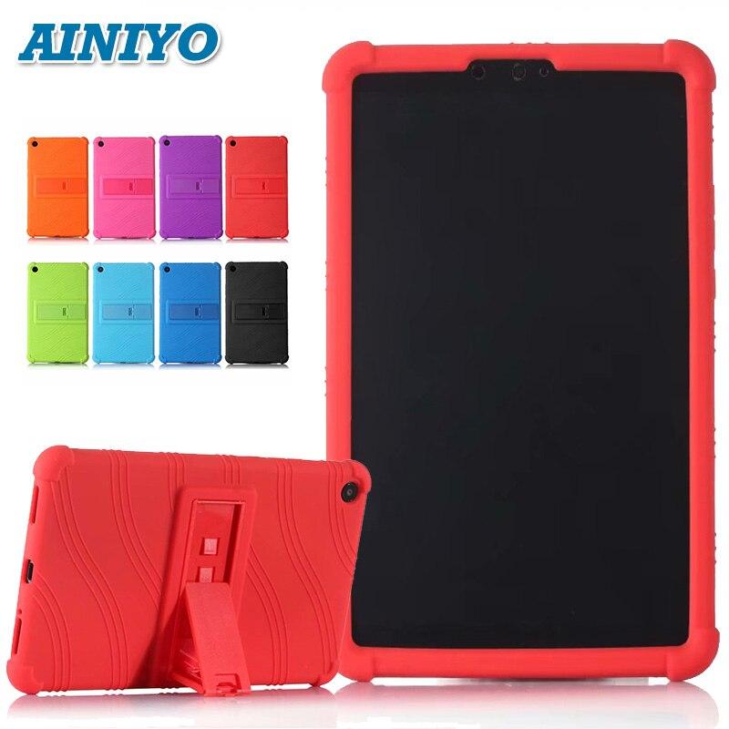 Funda de silicona, funda para Xiaomi Mi Pad 4 Mipad4 8,0 Tablet Pc para Mi Pad4 mipad 4 funda protectora + 3 regalos