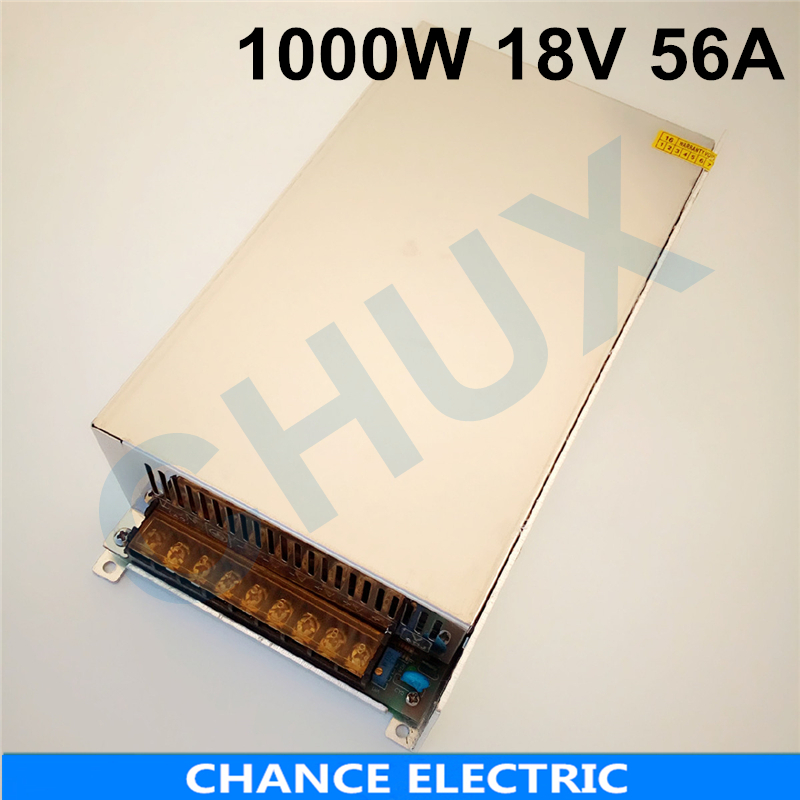 1000W 56A 18V switching power supply 18v adjustable voltage ac to dc power supply for Industrial field Free shipping