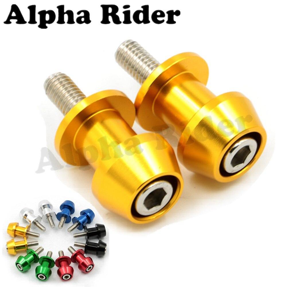 YZF-R25 2014-2015 MT-01 2002-2010 Alpha Rider 6MM Motorcycle Black Swingarm Sliders Spools CNC Swing Arm Fit For Yamaha YZF-R6 600 1999-2015 R7 1998-2002 YZF-R3 2015