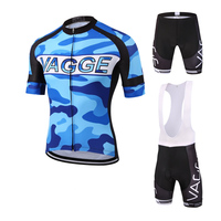 VAGGE Camouflage Blue Man Bicycle Clothing Road Bike Wear Reflective Cycling Wear Jersey Polyester Cycling Clothing