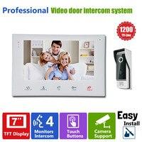 YSECU 7 TFT HD 1200TVL Video Doorbell Camera Door Phone Doorbell Intercom System IP65 Waterproof Quality
