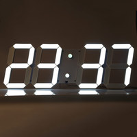 Remote Control Digital LED Wall Clock Alarm Stopwatch Thermometer Countdown Calendar
