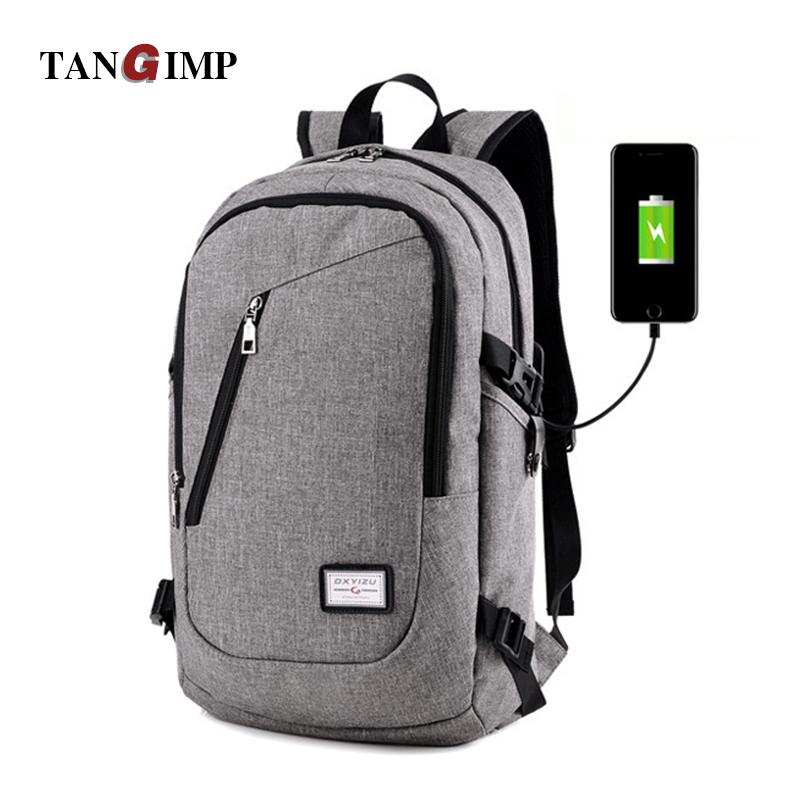 TANGIMP 18 Business Laptop Men Backpacks Anti Theft Notebook College School Travel Shoulder Bags w/ USB Charging Port External lotus landscape print 180 180cm polyester shower curtain