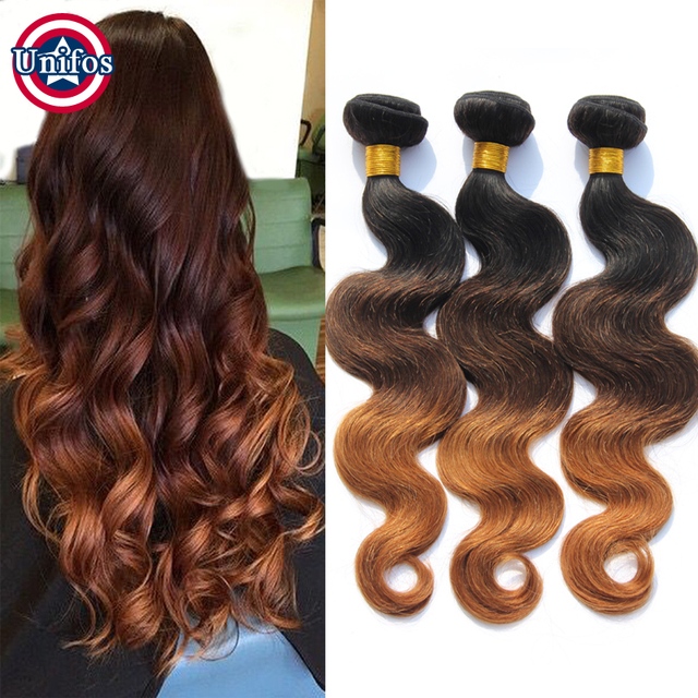 Three Tone Ombre Brazilian Hair 1b 4 30 Ombre Hair Extensions Human