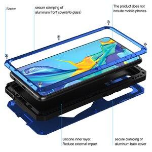 Image 3 - Pour Huawei P30 P30 Pro étui de téléphone dur en aluminium métal trempé verre protecteur décran pour Mate10 20 Protection robuste