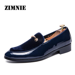 ZIMNIE Men Loafers Oxford-Shoes Formal Pointed-Toe Party Patent Leather Fashion Brand