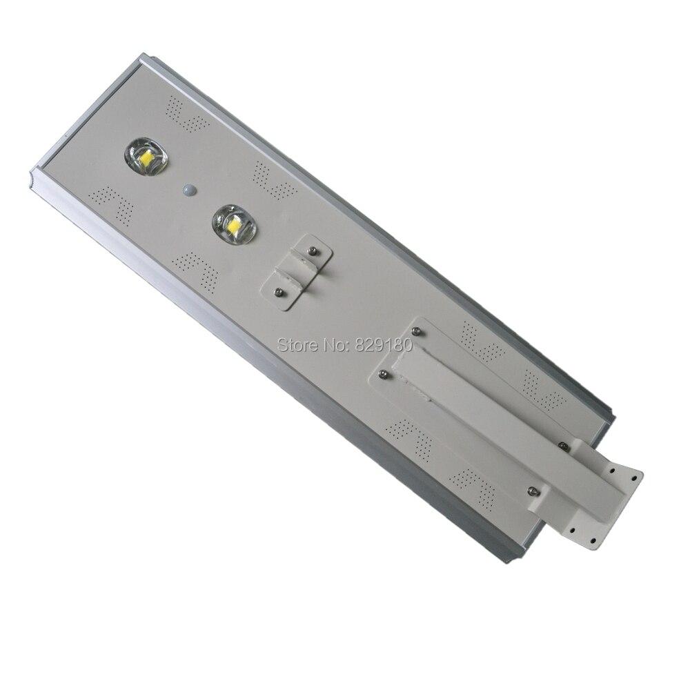 Işıklar ve Aydınlatma'ten Güneş Lambaları'de 80 W led güneş enerjili sokak ışığı  Güneş sensörlü ışık  100 W GÜNEŞ PANELI 57AH Pil All In One  Entegre dış mekan güneş enerjili lamba  Ip65