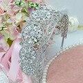 Joyería nupcial Rhinestone de la Aleación Europea exagerada retro antiguo grande de la boda tiaras y coronas de la boda accesorios para el cabello