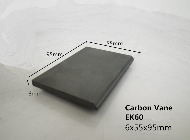 6*55*95mm carbon graphite vane for vacuum pumps /FUEL PUMP CARBON GRAPHITE VANE 310 73 8 mm graphite vane in air pump vacuum pump carbon vane block carbon blades