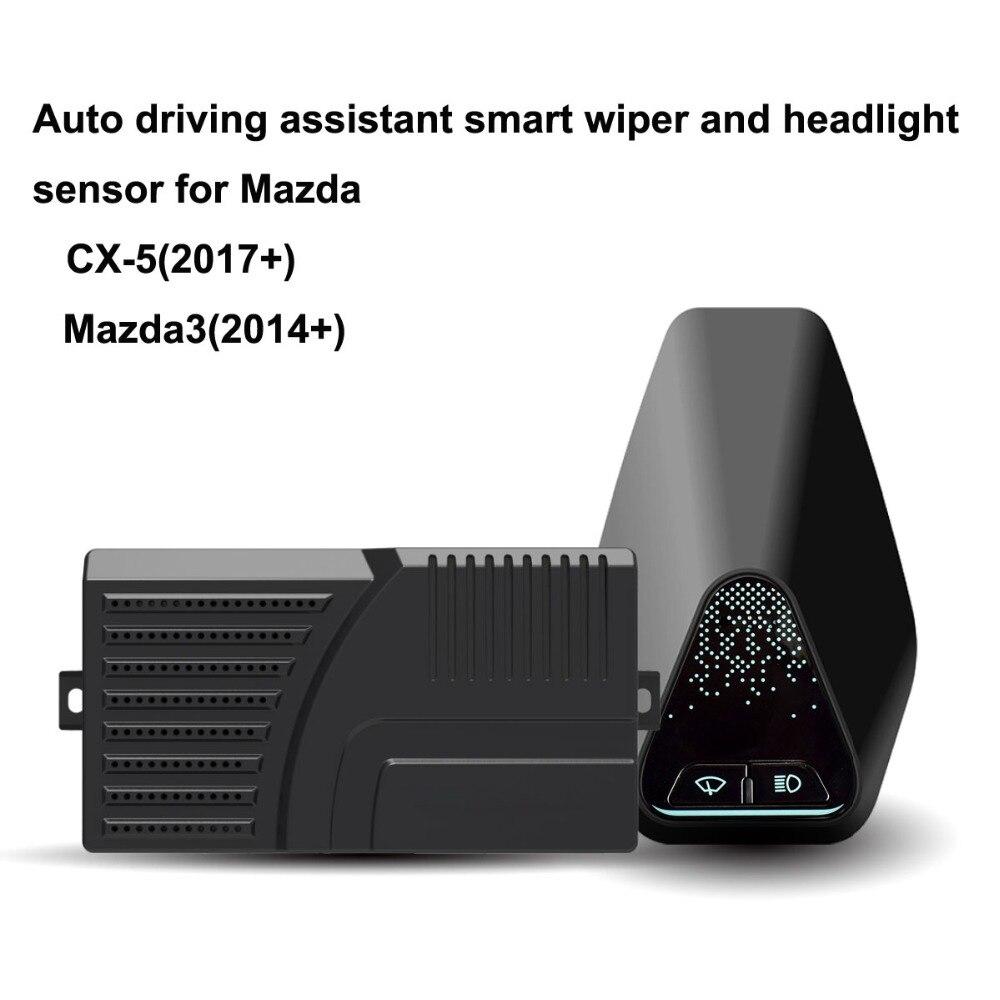 Assistant de conduite automatique intelligent essuie-glace et capteur de phare pour Mazda CX-5 (2017 +) Mazda3 (2014 +)