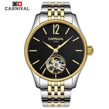 2016 nuevo carnaval ejército tourbillon mecánico automático para hombre reloj de acero completo impermeables para hombre lujo famosa marca de relojes vintage
