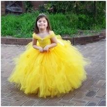 цена на Girls Dresses Wedding Flower Princess Dress Pageant Party Summer Bow tie Dress Tutu Solid color Long dress