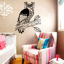 Wall Decals Owl Eagle-Owl Bird Feathers Pattern Doodle Nature Vinyl Decal Sticker Home Decor Bedroom Wall Sticker H-9 stylish night owl pattern wall sticker for livingroom bedroom decoration