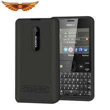 Nokia Asha 210 разблокированный GSM 2,4 ''две sim-карты 2MP QWERTY клавиатура только на английском языке отремонтированный мобильный телефон