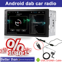 Dab Car Radio Double 2 Din Android 6 0 Car DVD Player GPS Wifi Bluetooth Radio