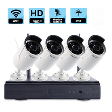 4PCS 1 3Megapixel 960P Wireless Outdoor IP Camera Network System Nightvision 4CH WIFI NVR Wifi Kit